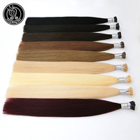 I Tip Remy Human Hair Extensions Pre Bonded Stick Tip Extensions Ash Blonde 22 Inch 1g Per Strand 50 Strands Fairy Remy Hair