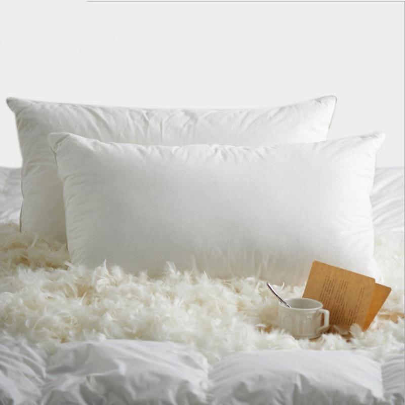 100% goose down pillow Home Textile throw pillow light White Feather Pillows Zero Pressure Memory sleeping Neck Health sleeping