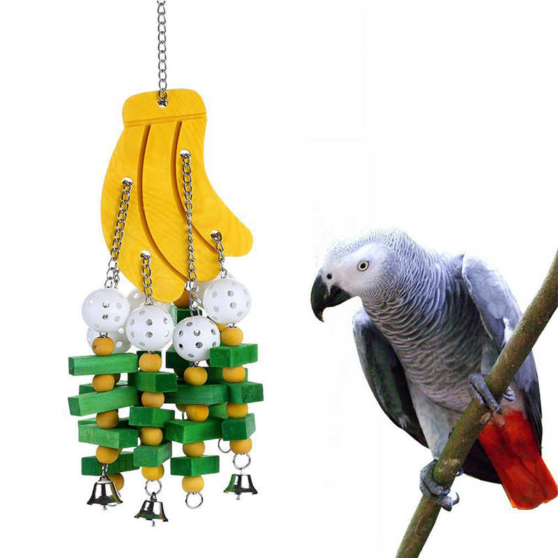 Parrot Swing Toys Colorful Wood Beads Intelligence Improvement Birds Toys for Small Birds Playing Funny and Lovely Pet Supplies