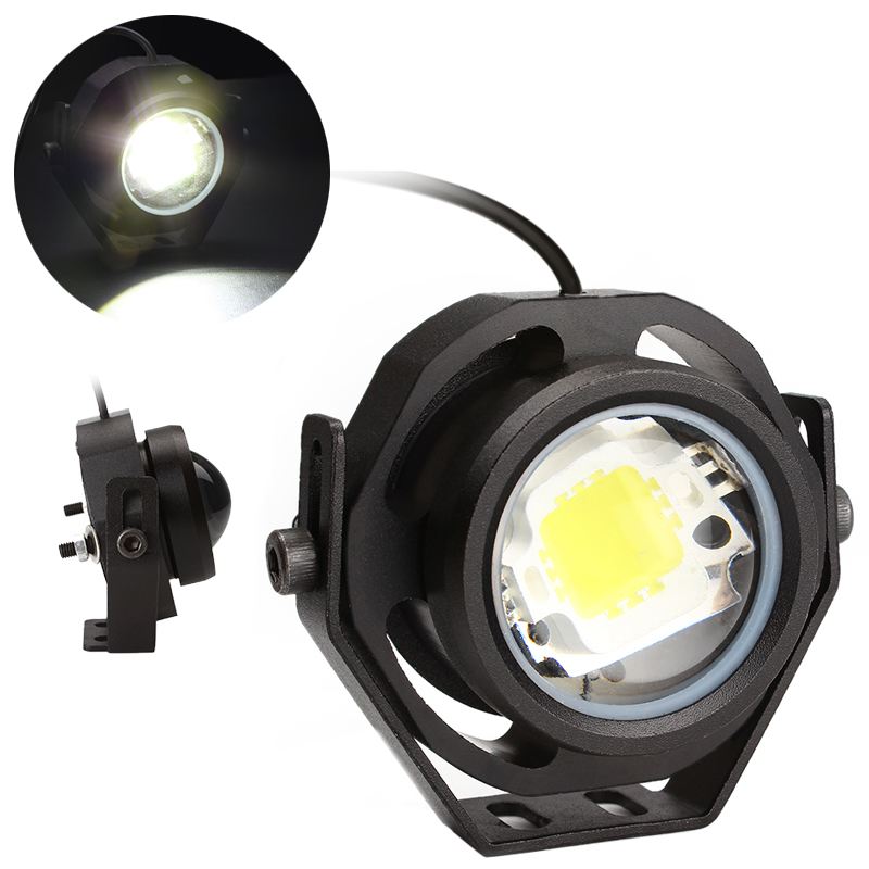 Super Bright Led Car Fog Lamp Waterproof 10W DRL Daytime Running Light Reverse Backup Parking Car Styling Light Source Eagle Eye  1 pair 2000lm 20w cree chips drl led eagle eye car fog daytime running reverse backup parking light lamp ip67 waterproof