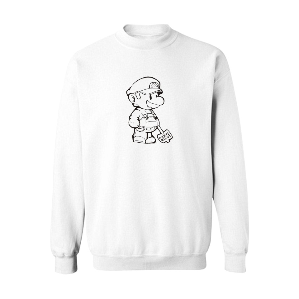 US $12.53 32% OFF|Super Mario BlackGray New Sweatshirts with Hoodies Men Brand Logo in Fashion Mens Hoodies and Sweatshirts 3xl in Hoodies &