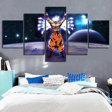 5 Piece Animation Goku Dragon Ball Canvas Printed Wall Pictures Home Decor For Living Room Poster Wholesale