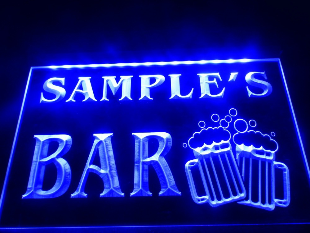 dz028 name personalized custom home bar beer mugs cheers led neon light sign in plaques signs. Black Bedroom Furniture Sets. Home Design Ideas