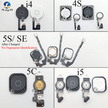 For iPhone 4 4S 5 5S 5C SE Home Button with Flex Cable Menu