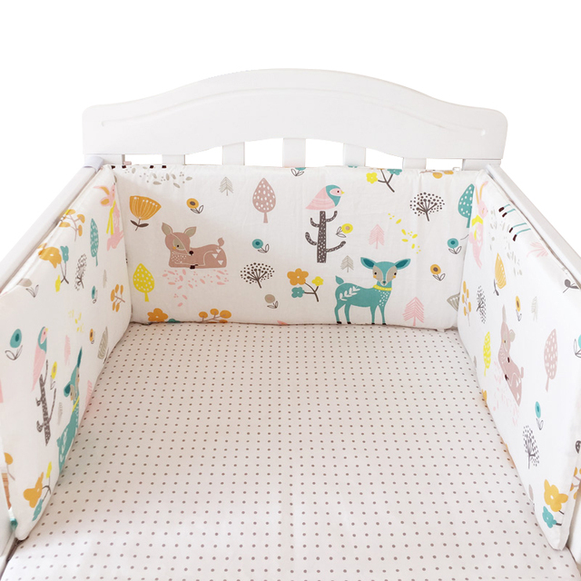One-piece Baby Bumpers for Bedding Set 180*30 cm Cotton Crib Around Protector Baby Bed Safe Accessories Newborns Cot Headrest