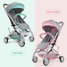Yoya plus 3 Lightweight Baby Stroller Folding Portable Hot Mom Travel Pram Umbrella Pink Pushchair