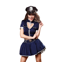 3Pcs Sexy Women Police Dress Costume Halloween Ladies Role Playing Cop Outfit Girls Erotic Performance Cosplay Uniforms