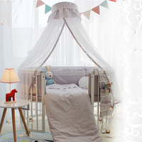 Baby Bed Bumper Sleeping Bedding Set Infant Cushion High Quality Cotton Circle Bed Safe Protective Crib Bumper For Newborn Baby