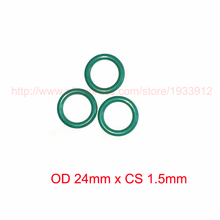 OD 24mm x CS 1.5mm fkm viton rubber o ring gasket seal o-ring oring 2piece size 550mm 542mm 4mm viton o ring seal dichtung green gasket of motorcycle part consumer product o ring