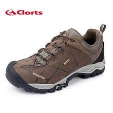 2016 Clorts кроссовки для мужчин из натуральной кожи Нескользящие уличные походные ботинки треккинговые ботинки Водонепроницаемый спортивные кроссовки HKL-805A
