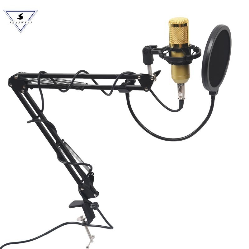Ssmarwear Professional bm 800 Condenser Microphone Audio 3.5mm Wired BM800 Studio Vocal Recording KTV Karaoke Stand For Computer bm800 condenser microphone kit studio suspension boom scissor arm sound card 3 5mm wired vocal recording ktv karaoke microphone