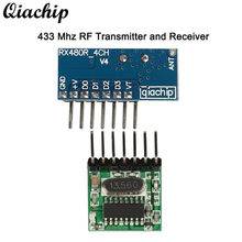 QIACHIP 433 Mhz Wireless Remote Control Switch RF Receiver and Transmitter Learning Code 1527 4 CH RF Module For Arduino Uno Z40(China)