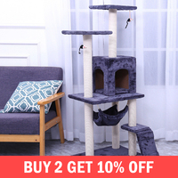 Cat Tree Furniture Scratch Cats House Climbing Frame Jumping Toy With Ladder Kittens Home Pet Play Accessories Supplies Products