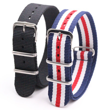 2pcs 18 20 22 24mm Multiple Colors Nato Nylon Military Watch Strap Army Sport Watchband