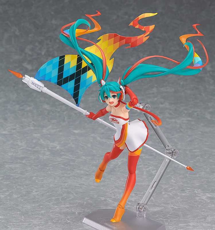 Manga Anime Figma - Hatsune Miku Vocaloid - SP-078 Racing Miku 2016 Ver. Action Figure Model Collection Gift (Chinese Version)