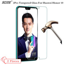 2Pcs lot Tempered Glass For HUAWEI honor 10 honor10 screen protective smartphone 9H case toughened cases covers on