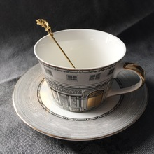 Fornasetti чайная чашка нордическая кость Золотое окно Ретро лебединый замок Классический ветер кофейная чашка украшение дома(не содержит ложку