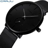 CRRJU Модные мужские наручные часы мужской лучший бренд класса люкс кварцевые часы для мужчин повседневное Тонкий платье водонепрони