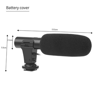 Image 5 - SHOOT 3.5mm External Stereo Condenser Microphone for Nikon Canon Sony DSLR Camera Vlogging Interview Video Recording Microphone