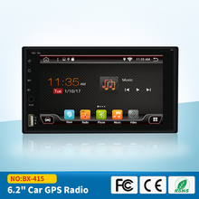 Quad Core 2 Din Pure Android 6.0 Car DVD Player Navigation Stereo Radio GPS WiFi 3G Touch Screen Back Camera Car PC 170*96mm