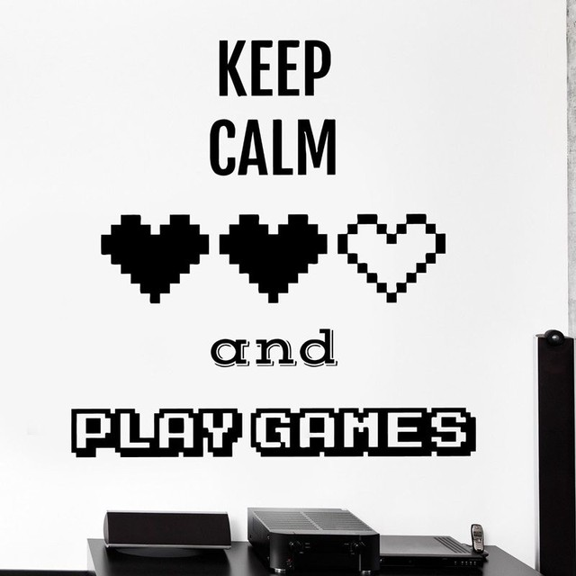 Gaming posters gamer video game sticker play decal vinyl wall decals parede decor mural many color