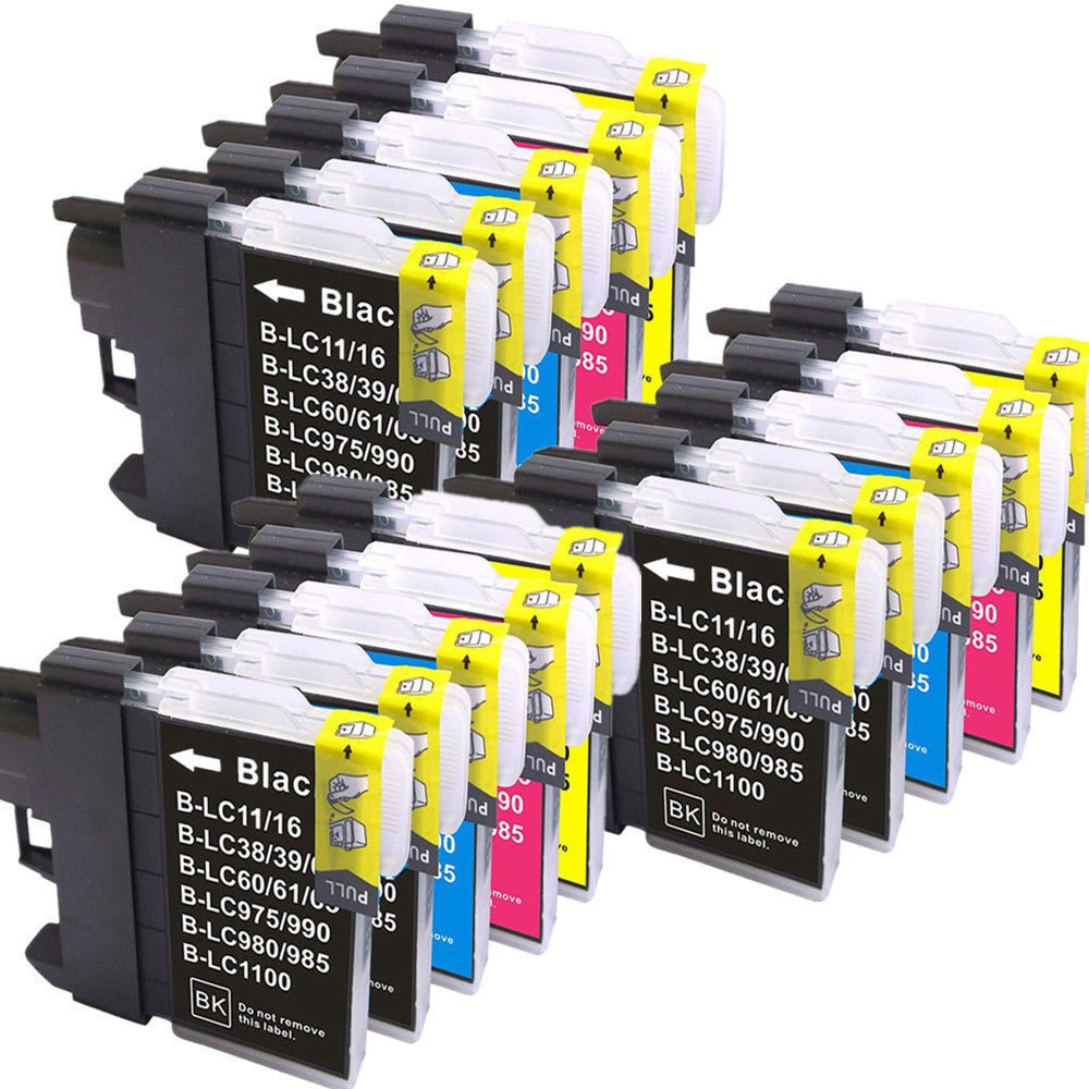 15 LC980 Ink Cartridge Compatible for Brother DCP 145C 165C 195C 197C MFC 250C 255CW 5895CW miraculous pt 195c 4