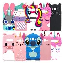 3D Cartoon Unicorn Minnie Capa For Samsung Galaxy J7 2016 J710 J7108 J7109 Soft Silicone Cover For Samsung J7 2016 Phone Cases все цены