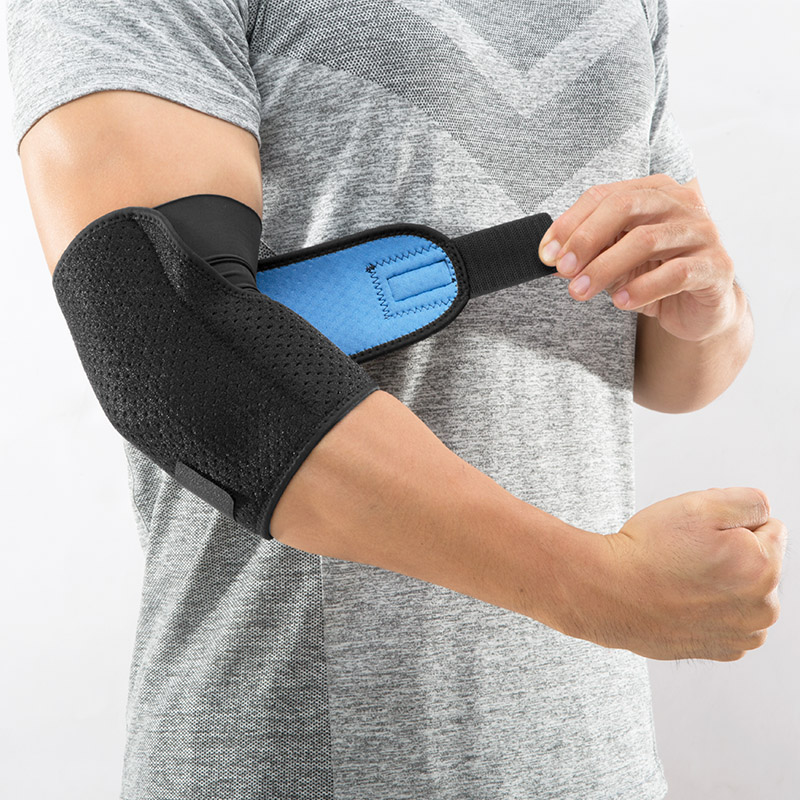 NO PAIN NO GAIN Atmungsaktive Sport Ellenbogen 1 stück Bandage Basketball Ellenbogen Pads Unterstützung Einstellbar Pads Arm Hülse Gym TQHZ