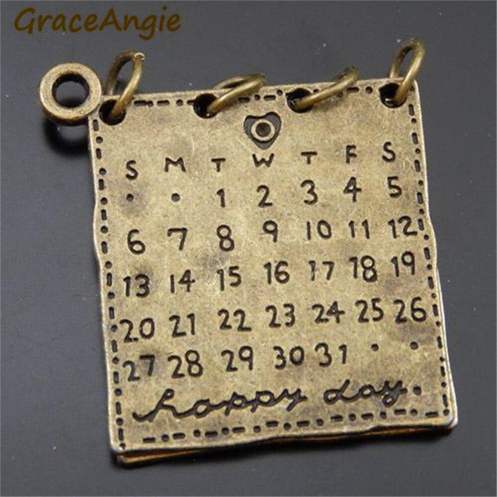 Calendario Antico.Us 2 02 52 Di Sconto 4 Pz Bronzo Antico In Lega Di Zinco Magic Book Calendario Fascini Del Pendente Gioielli Fatti A Mano In 4 Pz Bronzo Antico In