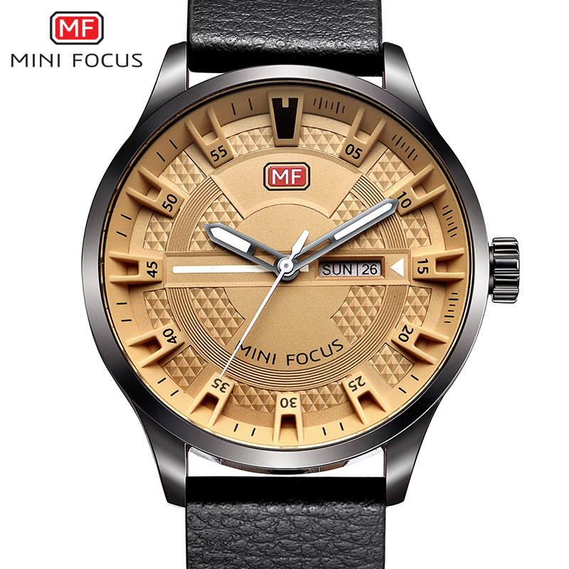 2017 MINIFOCUS Brand Men's Fashion Casual Sport Watches Men Waterproof Leather Quartz Watch Man military Clock Relogio Masculino 2017 new top fashion time limited relogio masculino mans watches sale sport watch blacl waterproof case quartz man wristwatches