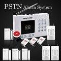 Venta caliente Precios Al Por Mayor Sin Hilos 99 zonas de defensa 433 mhz PSTN Sistema de Alarma, incluye detector de puerta y motion detector