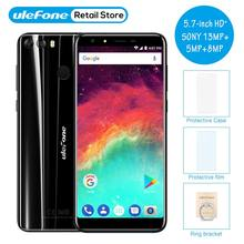 "Ulefone MIX 2 5.7"" HD+18:9 Screen MT6737 Quad Core Cellphone Dual Rear Camera 2GB 16GB Android 7.0 3300mah 4G LTE Mobile Phone(China)"