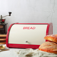 Metal Flip Cover Bread Storage Box Scandinavia Sundries Tableware Waterproof Storage Box Container Organizer Home Decor
