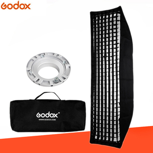 "Image 1 - Godox FW22*90 softbox 22x90cm 9""x 35"" Portable Rectangular Honeycomb Grid Softbox soft box with Bowens Mount for Studio Flash"