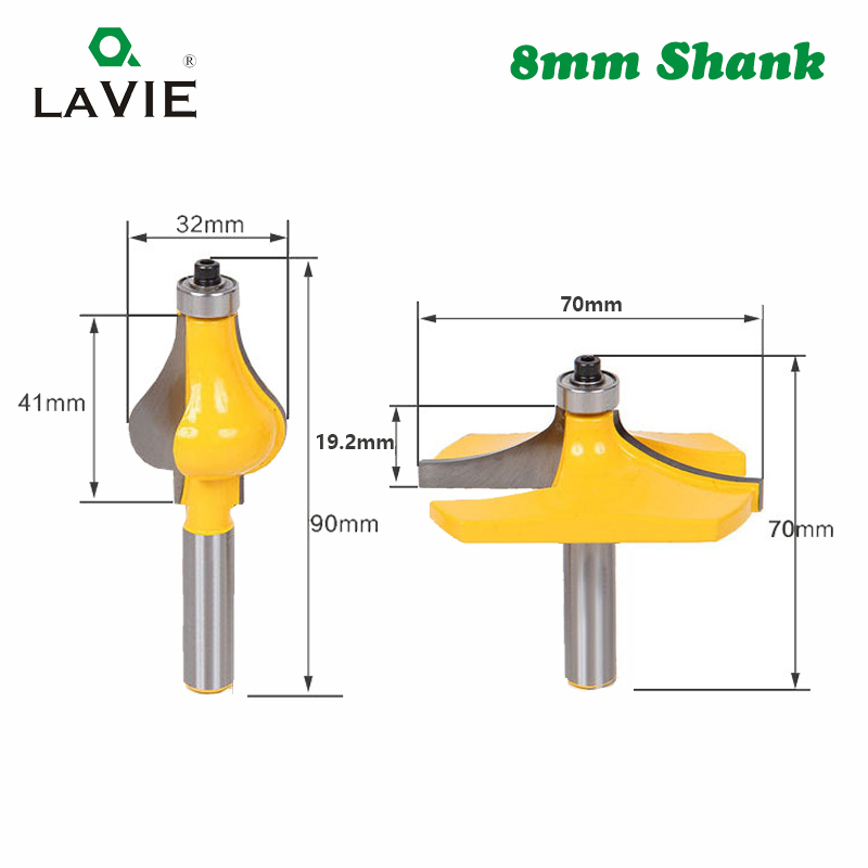Image 2 - LAVIE 2pcs 8MM Shank Armrest Mill Handrail Router Bits Set Wavy Flute Tenon Milling Cutter for Wood Woodworking Cutters MC02064-in Milling Cutter from Tools