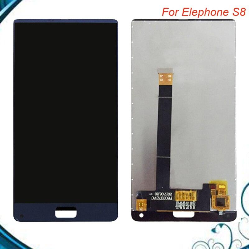 Одежда высшего качества для Elephone S8 ЖК-дисплей Дисплей + Сенсорный экран 100% тестирование планшета Ассамблеи Замена аксессуары в наличии