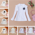 2017 Spring Kids Girls Clothes Children Clothing Princess Long Sleeve Child Shirt School Girl Blouse Girl White Blouses Age2-16Y