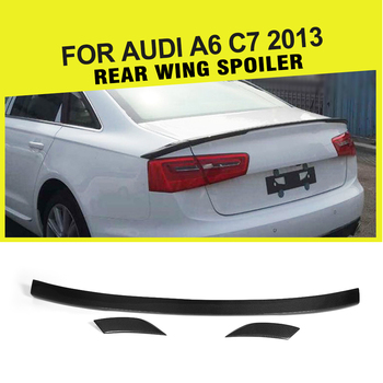 Carbon Fiber / FRP Rear Trunk Spoiler Boot Wing Lip for Audi A6 C7 Standard Only 2013 - 2015