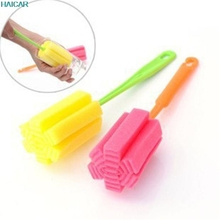 1PC Sponge bottle cleaning brush Long handle For Wineglass Bottle Coffe Tea Glass Cup Cleaning Kitchen Tool 2AU1