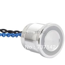 ELEWIND Серебристый цвет анодированный алюминий пьезо кнопочный переключатель (19 мм, PS193P10YNT1B24L, Rohs, CE)
