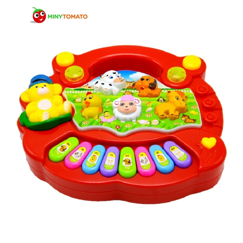 Free Ship New Useful Baby Kid Musical Educational Animal Farm Piano Music Toy Developmental Learning Toys For Baby цена