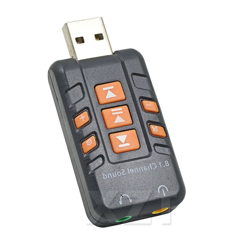 Hot Sale USB To 3D Audio External USB Sound Card 8.1