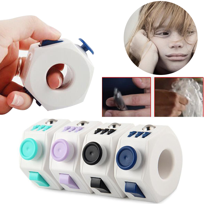 6 Sides Fidget Magic Finger Ring Cube Toy Anti Stress Children Gifts Funny
