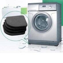 4 шт Черный EVA стиральная машина ударный коврик колодки холодильник шок Mute Pad холодильник анти-вибрации шум Pad Нескользящие коврики