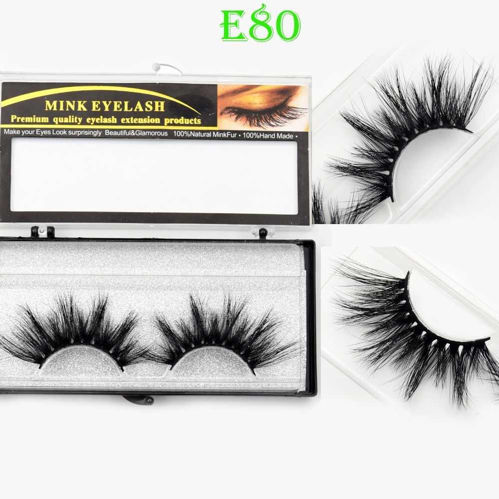 3ddc0616f72 Visofree Eyelashes 25mm 3D Mink Lashes Crisscross Mink Eyelashes Natural  Long Reusable 3D False Eyelashes Full