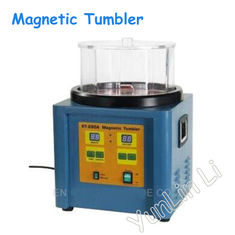 110V220V Electric Polisher 1100g Ferromagnetic Magnetic Tumbler Powerful Magnetic Polishing Machine KT-280A