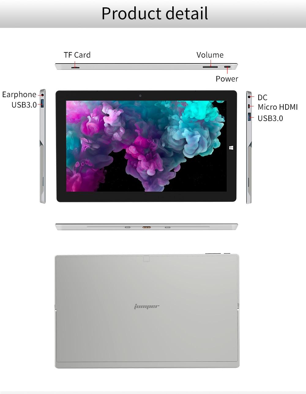 2 in 1 Tablet PC Jumper EZpad Go 11.6 inch IPS Display windows tablet (13)