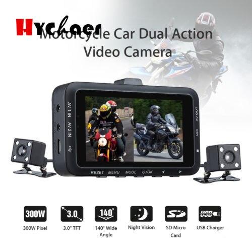 New DV168 Dual Camera Motorcycle DVR Dash Cam 3 0 inch 1080P HD G sensor Driving