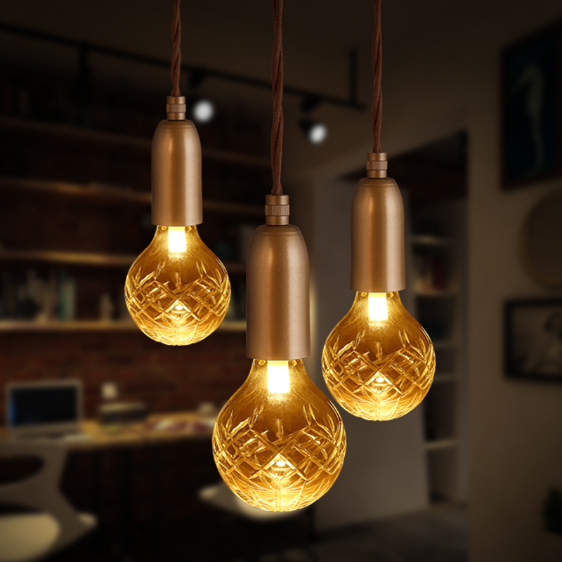 Loft Retro Golden Lighting Modern E27 LED Crystal Glass Pendant Light G9 Coffee Shop Clothing Store Decoration Lamp Lights modern shade glass artistic pendant golden and black e14 bulb modern lighting sphere beanstalk molecular mall shop decoration