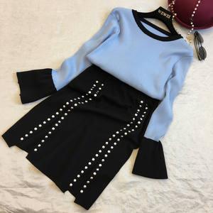 Chimavvi Women s Long Sleeve Two Piece Skirt Suits Sets 7b95b69db
